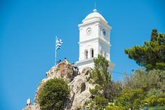 Poros - Clock Tower Built 1927 (Le Monde1) Tags: poros greece greek island lemonde1 nikon d800e saronicislands sfairia kalavria clock tower harbourside