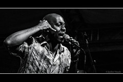 Hanging On The Telephone... (jayem.visuals) Tags: blackwhite blackandwhite concert jazz livemusic male men music musician people portrait singer jayemvisuals juergenmaeurer