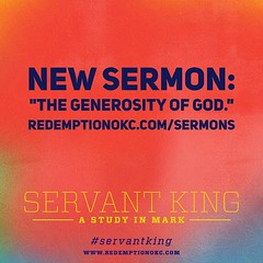 The new sermon is live! Listen at http://ift.tt/1FC0mOe or find us on iTunes by searching for Redemption Church. #servantking #generosity #prayer #holyspirit (rcokc) Tags: the new sermon is live listen redemptionokccomsermons or find us itunes by searching for redemption church servantking generosity prayer holyspirit