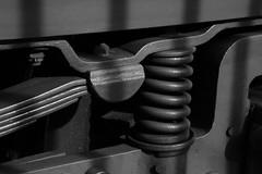 Suspension ! ... point ! (Pi-F) Tags: tramway barcelone ressort suspension lame espagne nb nbbwsw contraste texture matire mcanique ancien
