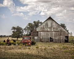 Three Companions Lost to Time (A Anderson Photography, over 1.5 million views) Tags: tractor truck barn canon ford red