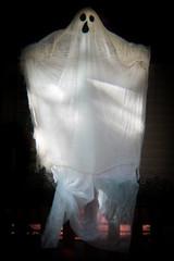 (298/366) Ghost (CarusoPhoto) Tags: holga hlp pentax ks2 john caruso carusophoto photo day project 365 366 halloween decoration ghost spooky lowfi street