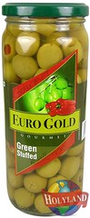 Euro Gold Green Stuffed Olives 450gm (holylandgroup) Tags: canned fruit vegetable cannedfruit cannedvegetable nonveg jalapeno gherkins soups olives capers paneer cream pulps purees sweets juice readytoeat toothpicks aluminium pasta noodles macroni saladoil beverages nuts dryfruit syrups condiments herbs seasoning jams honey vinegars sauces ketchup spices ingredients