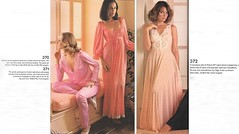 JC Penney Catalogue c.1977 (lynn_morton3500) Tags: lingerie nightdress pyjamas satin retro vintage ladiesclothing blonde pink peach salmon