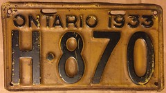 ONTARIO 1932 ---SHORTY LICENSE PLATE (woody1778a) Tags: ontario 1933 shorty licenseplate numberplate mycollection myhobby alpca1778 registrationplate collection