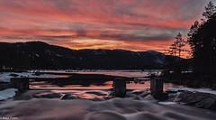 Sunset in Tovdal (Knut Fonn) Tags: 2016 hyttetur solnedgang tovdal sunset norway eastern pskestemning mountains fjell