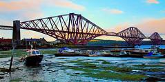 rail bridge (Duncan the road rebel) Tags: forthrailbridge firthofforthrailbridge railbridge scottishlandscape scotlandslandscape scotland scottish landscapesofscotland landmark landscape boat boats