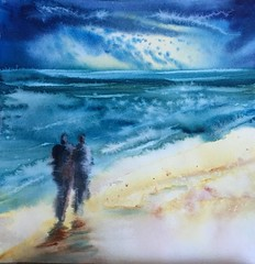 Lors d'un sjour  nieuwpoort. (carine hubeaux) Tags: plage vent amoureux texture promenade