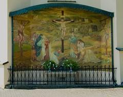 Golgotha (Hejma (+/- 5000 faves and 1,6 milion views)) Tags: lanckorona poland church image painting outside crucifixion flowers wrought
