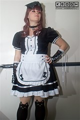 IMG_6952 (Neil Keogh Photography) Tags: apron black blouse cosplay cosplayer dokidokifestivalmanchester2016 dress female frenchmaid gloves highheels japanesemaid maidcafe mask skirt stocking sweetlolita tights white