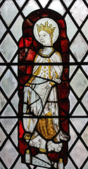 St Catherine in Canterbury (Lawrence OP) Tags: catherineofalexandria saints virgin martyr patroness philosophers preachers orderofpreachers stainedglass window medieval wheel