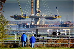 Mersey Gateway Project (Northern Pylon,Widnes Side) 25th November 2016 (Cassini2008) Tags: merseygatewayproject rubricaengineeringformtravellers bridgeconstruction cablestayedroadbridge spikeisland widnes cofferdam