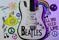 """The Beatles"" miniature guitar! Happy Macro-Music Monday! (Gianna Fou.) Tags: macromonday beatles music guitar doodles miniature"