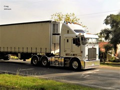 photo by secret squirrel (secret squirrel6) Tags: secretsquirrel6truckphotos craigjohnsontruckphotos kenworth aerodyne mirboonorth strezleckihighway white colour 2012 flickr photos cabover trucking kmodel