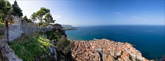 PA136697-edit Italy Sicily Cefalu (Dave Curtis) Tags: 2013 cefalu em5 europe italy omd olympus sicily town see castle panorama