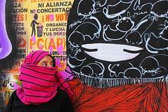 (alterna ) Tags: chile santiago color muro graffiti mujer rojo mural natalia boba fotografia nias mujeres muralla par pelo 2012 matta alterna alternativa encapuchada encapuchadas avmatta superboba alternaboba