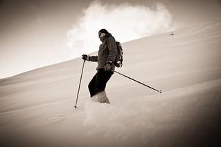 Alone in the  powder of French Alps - Seul dans la poudreuse des Alpes...
