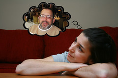 121/365 (gina.blank) Tags: cloud selfportrait reflection photoshop thought dad remember father think memory bubble yeg project365