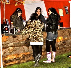 Black haired girls in shorts, pantyhose & wellies (petelovespurple) Tags: pink girls black sexy leather festival mud boots tights rubber teen shorts wellingtonboots reggae wellies pantyhose wellingtons furs 4thmay nutsinmay peoplefun