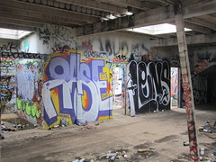 Rase Lens (Lefty O'Shaughnessy) Tags: sf urban art lens graffiti san francisco graf ita krs rase intens cnial