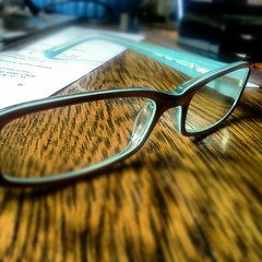 New glasses (ErinAB (ern the ferle)) Tags: new eye table glasses eyes spectacles foureyes instagram