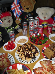 Eurovision 2013 - Believe in Bonnie! (pefkosmad) Tags: party music salad sweden song tomatoes contest nuts peanuts coke flags chips lostcause pizza drinks teddybear singer cocacola buffet eurovisionsongcontest malmo sausagerolls fingerfood pimms profiteroles chickensatay bonnietyler barabrith unionflags watchtv cornishpasties canneddrinks believeinme gingernutt dutchapplecake nobbynomates tedricstudmuffin eurovision2013 nonalcoholiclager notasnowballschanceinhell