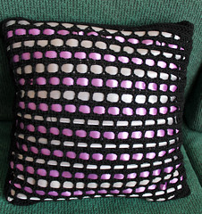 IMG_8871 (EadaoinFlynn) Tags: handmade crochet craft ribbon cushion weave