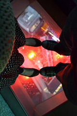 On the glass floor in Auckland Sky Tower (wibble.ie) Tags: sunset newzealand sky auckland nz kiwi