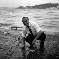 fisherman (OlaAlexandrova) Tags: portrait people bw man men 6x6 turkey istanbul bronica medium format sqa