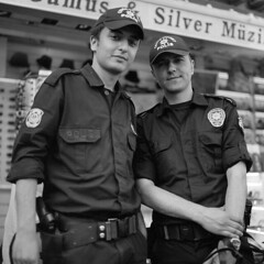 police (OlaAlexandrova) Tags: portrait people bw man men 6x6 turkey istanbul bronica medium format sqa