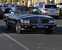 (Veee Man) Tags: car parkinglot lasvegas nevada gimp convertible mercedesbenz coolblue customlicenseplate nikond5000