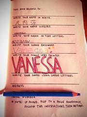 My wreck this journal #1 (Vanessa Fontebasso) Tags: this 1 journal wreck wtj wreckthisjournal uploaded:by=flickrmobile flickriosapp:filter=orangutan orangutanfilter