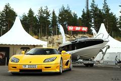 Yellow. (K.A.A.) Tags: evolution spotted rare supercar evo ccr koenigsegg hypercar