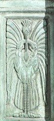 Possible Liver Bird? (lady.bracknell) Tags: architecture liverpool artdeco waterstreet liverbird doorpanel martinsbank martinsbankbuilding