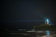 Inubousaki lighthouse under the full of stars (Takashi(aes256)) Tags: sea lighthouse japan night chiba  inubousaki      nikond4 nikonafsnikkor50mmf14g