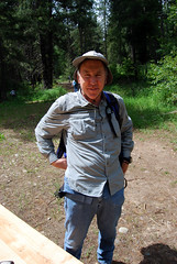 Dad on Fathers Day (Sotosoroto) Tags: forest washington hiking roslyn dayhike kittitas