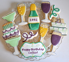 21st Birthday Cookies