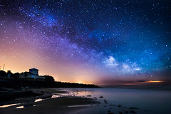 The Cove Under The Milky Way (Chad Powell Design and Photography) Tags: uk sea england sky beach landscape astro astrophotography ventnor isleofwight astronomy nightsky milkyway steephillcove