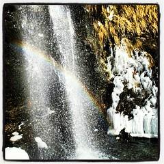 (Sara6818) Tags: snow water arcoiris waterfall rainbow agua nieve cascada flickrandroidapp:filter=none