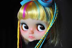 Ikarus, a sweet little time traveler for Peggy (♥PAM♥dolls♥) Tags: cute dreadlocks doll goggles blythe rbl customblythe pamdolls