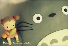 Totoro, Mei, 中トト & チビトト Big Big clay dolls !!!!!!! (charles fukuyama) Tags: cute forest handmade totoro mei artdoll lovely cartoons sculpted トトロ claydoll animalscaketopper kikuike チビトト 大卷次子