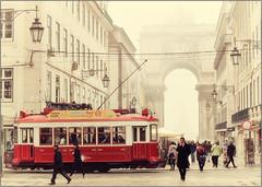 Lisbon.pt @ city mist_eries (Jose Antonio Pascoalinho) Tags: street city red people urban mist portugal monument fog nikon downtown moments cityscape traffic lisbon candid snapshot streetphotography tram baixa capture bildings zedith