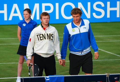 Andrey Golubev - Outside court