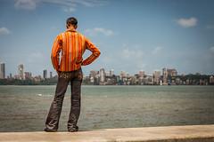 Marine drive (Rusty.) Tags: street city travel sea india landscape asia candid backpacking bombay mumbai