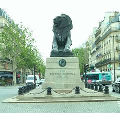 Lion de Belfort (thausj) Tags: paris france monument frankreich montparnasse denkmal denfertrochereau