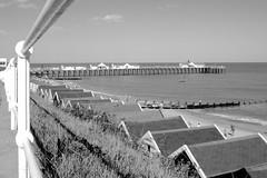 Southwold Pier (LRO_1) Tags: sea england blackandwhite beach coast pier blackwhite suffolk nikon southwold d60 blackandwhitephoto southwoldpier nikond60 blackwhitephotos camerabag2