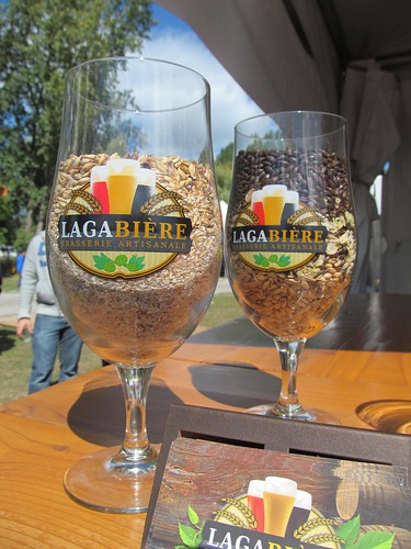 Lagabière glass with malt in it