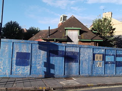 16th September 2013 (themostinept) Tags: blue house london fence paint hackney clapton e5 millfieldsroad