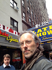 Waiting to go in to see David Letterman (April 2012) (Eric Londgren Photography) Tags: newyorkcity broadway letterman cbs lateshowwithdavidletterman edsullivantheater worldwidepants