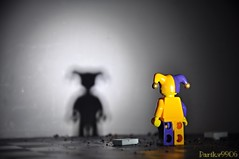 The Dark Side......... (parik.v9906) Tags: shadow white black blur color scary nikon darkness lego bad spooky legos minifigure minifigures
